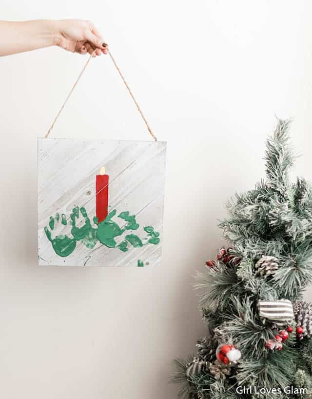 Christmas Kid Craft Hand Print Art