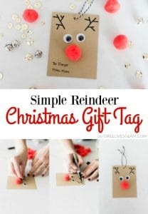 Easy Christmas Gift Tags on www.girllovesglam.com