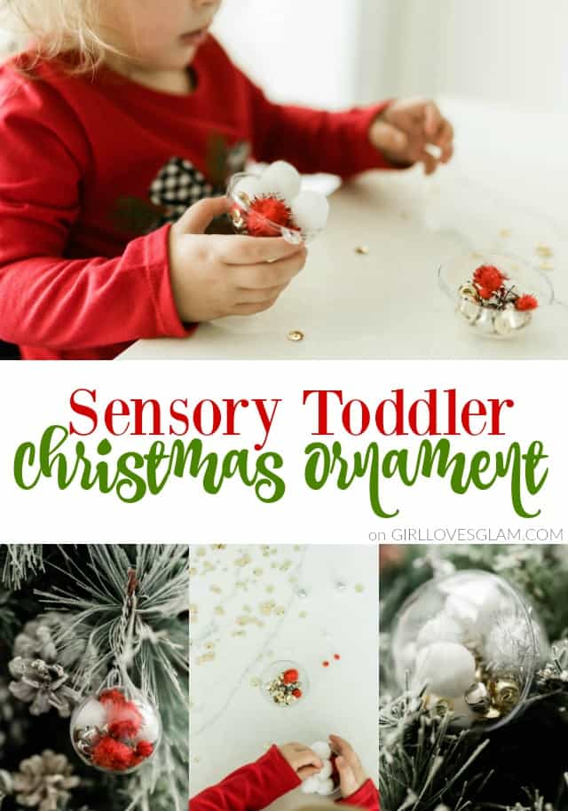 Sensory Toddler Christmas Ornament on www.girllovesglam.com