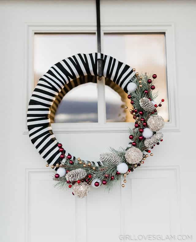 Striped Wreath
