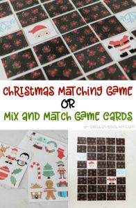 Christmas Matching Game or Mix and Match Game Cards on www.girllovesglam.com