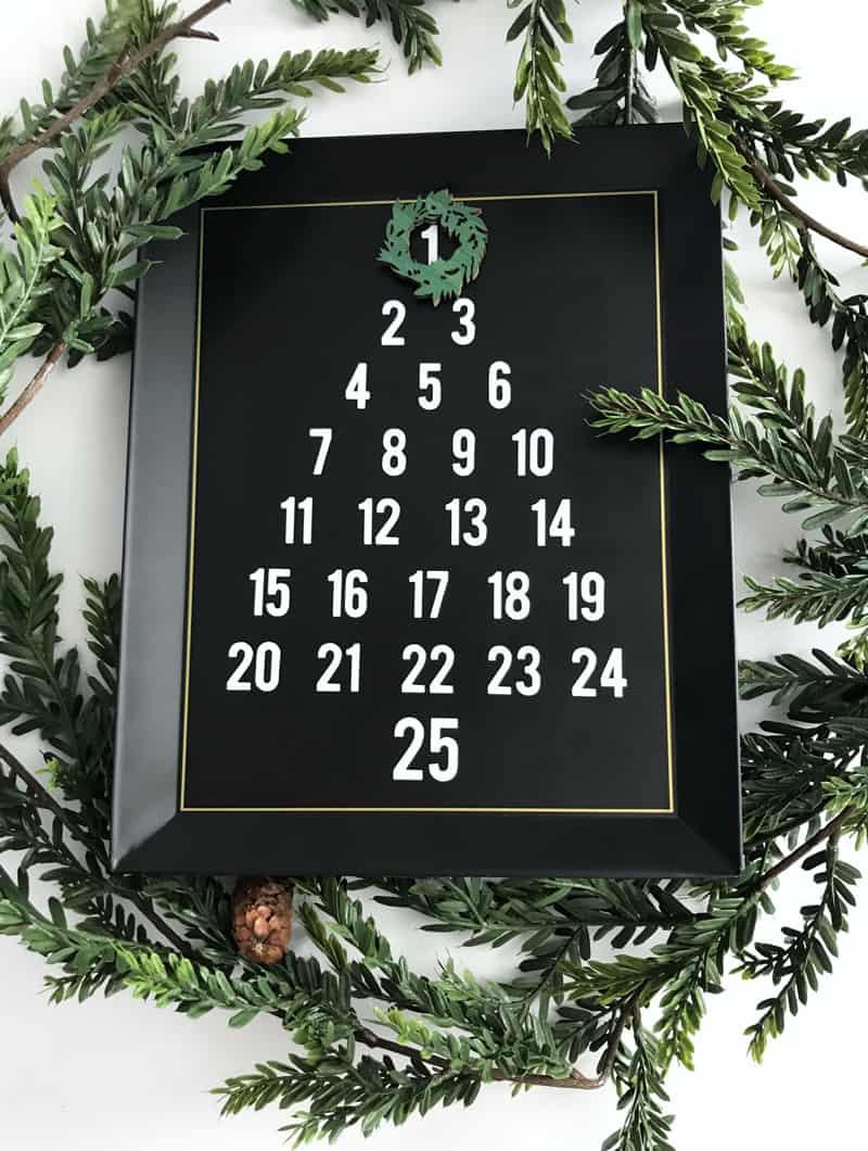Magnetic Christmas Tree Advent Calendar