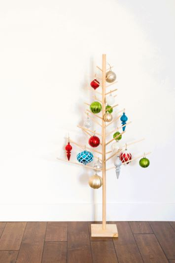 Wood Dowel Modern Christmas Tree