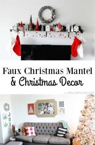 Faux Christmas Mantel on www.girllovesglam.com