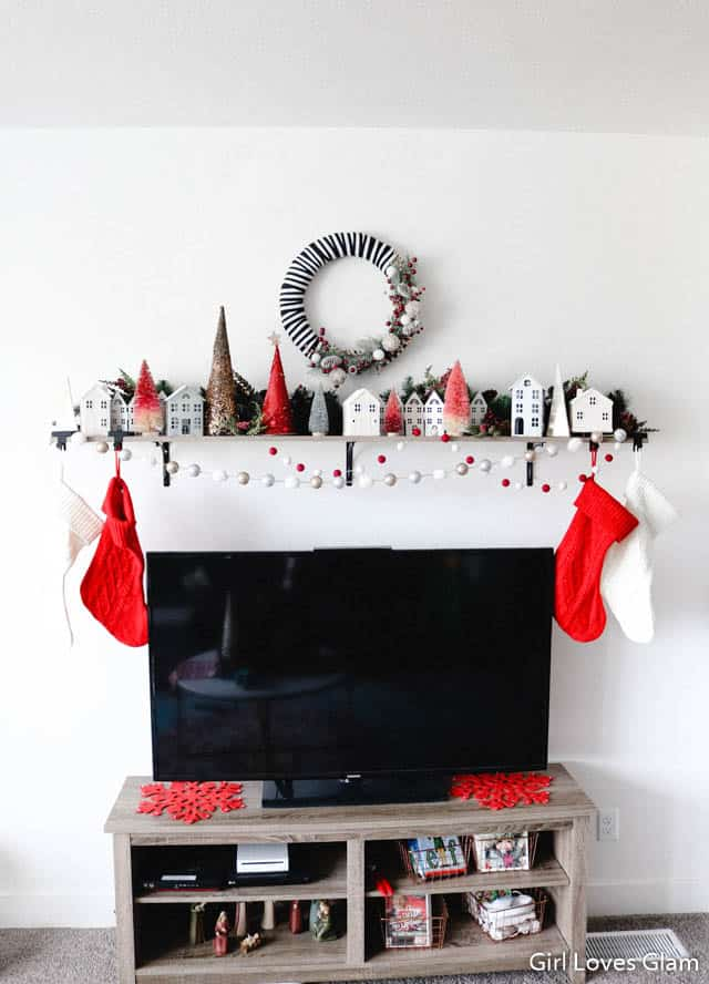 Faux Mantel Shelf Christmas Decor