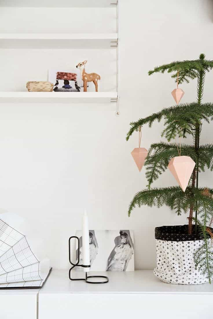 Geometric Modern Christmas Tree Ornament