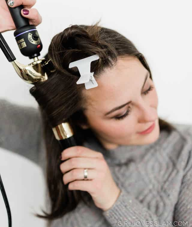 Curling Hair With Curling Iron on www.girllovesglam.com