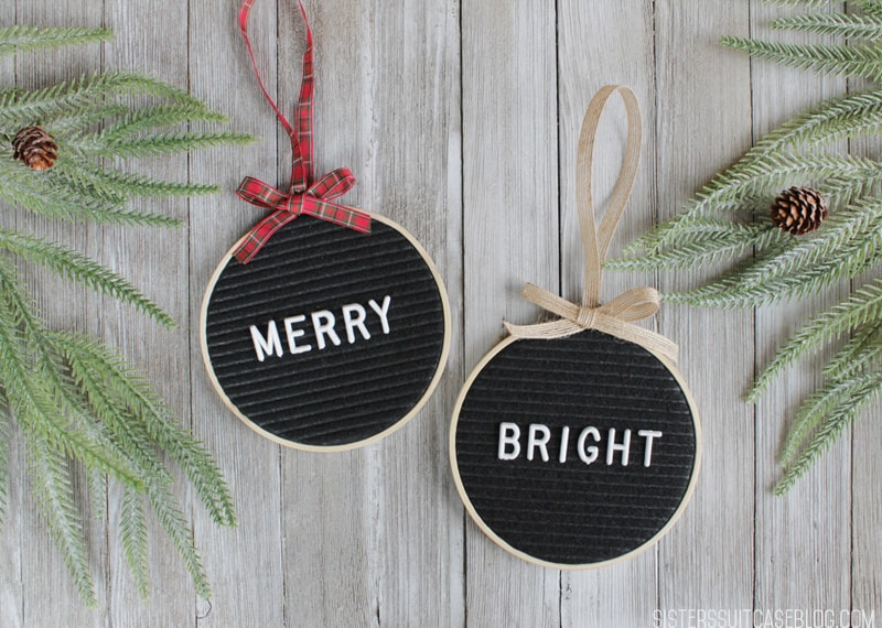Modern Christmas Letterboard Ornaments
