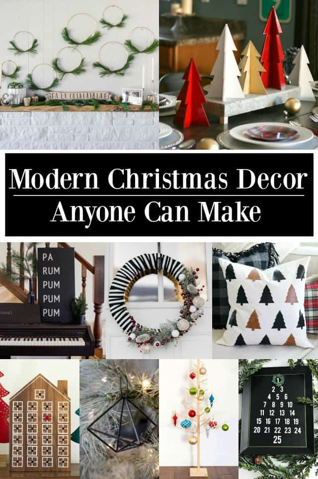 Modern Christmas Decor Anyone Can Makke