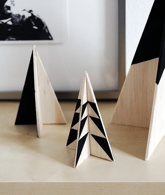 Black and White Modern Christmas Trees