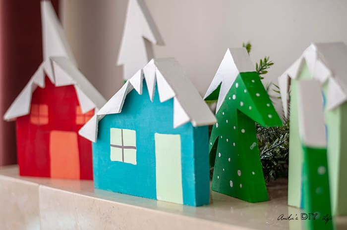 Scrap Wood Christmas Village