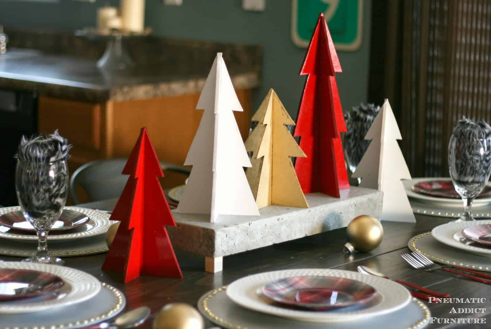 Modern Plywood Christmas Trees