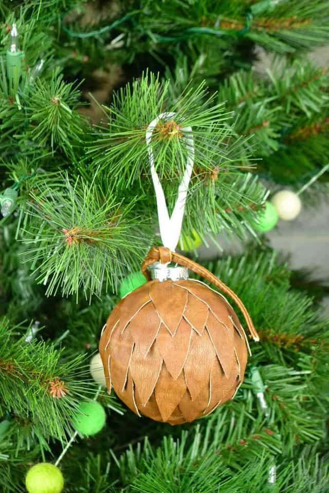 Leather Modern Christmas Ornaments