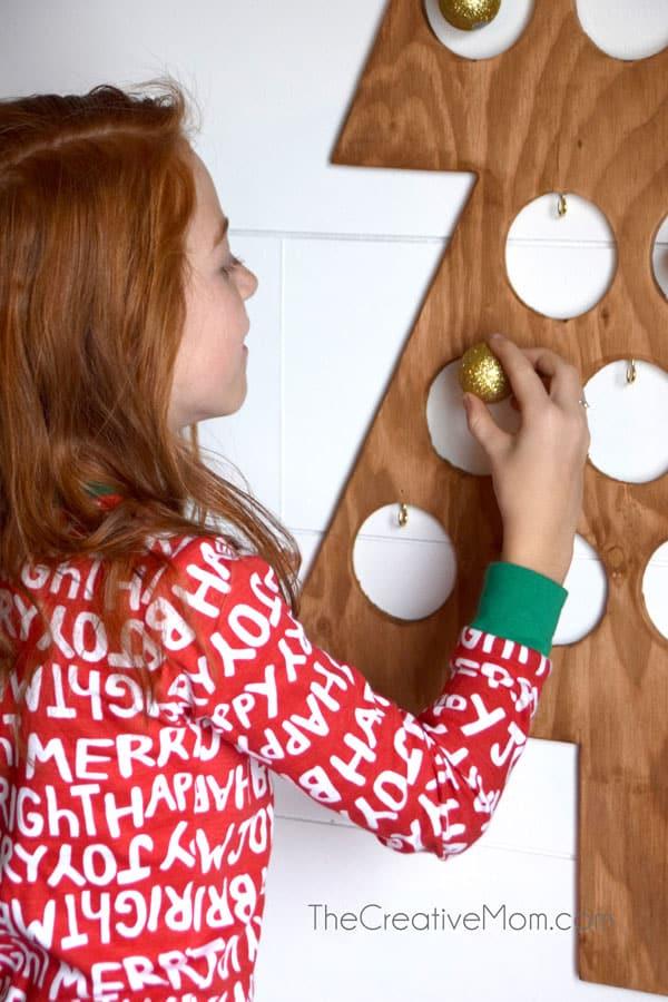 Wooden Tree Modern Christmas Advent Calendar