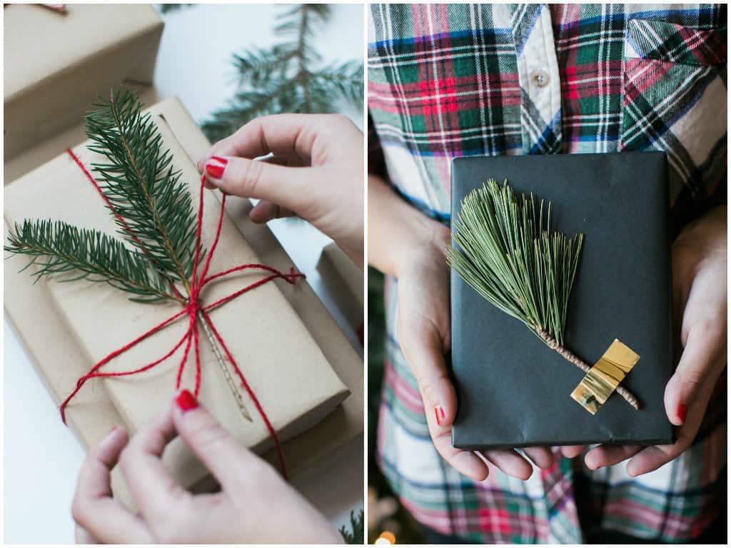 Modern Christmas Gift Wrapping