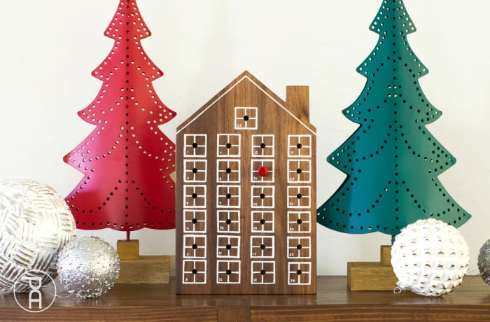 Wood House Modern Christmas Advent Calendar