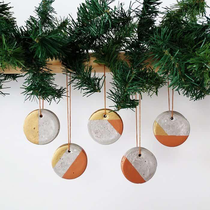 Concrete Modern Christmas Ornaments