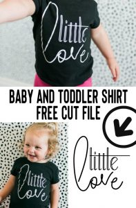 Baby and Toddler Shirt Free Cut File