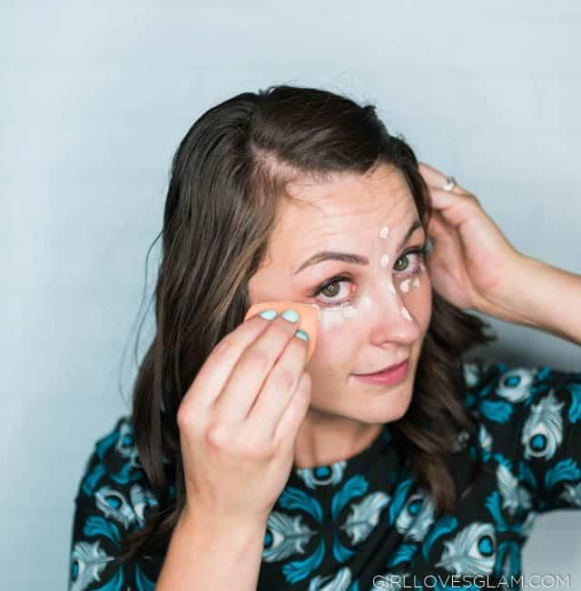 Blending Concealer with Makeup Blender Sponge