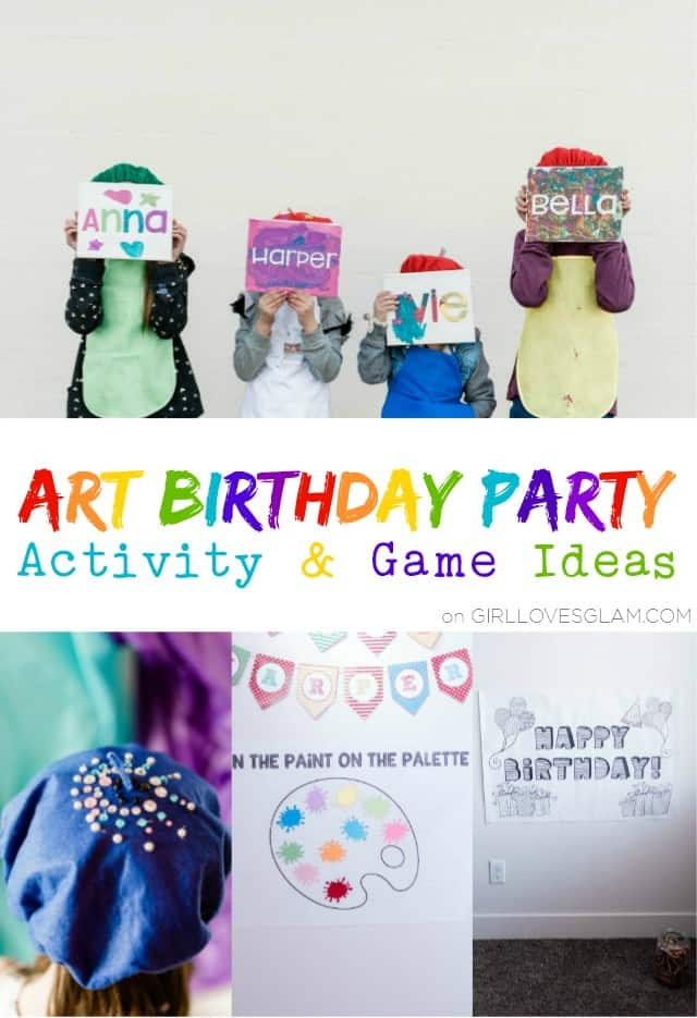 Art Birthday Party Activity and Game Ideas