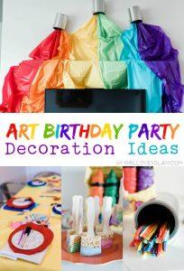 Art Birthday Party Decoration Ideas