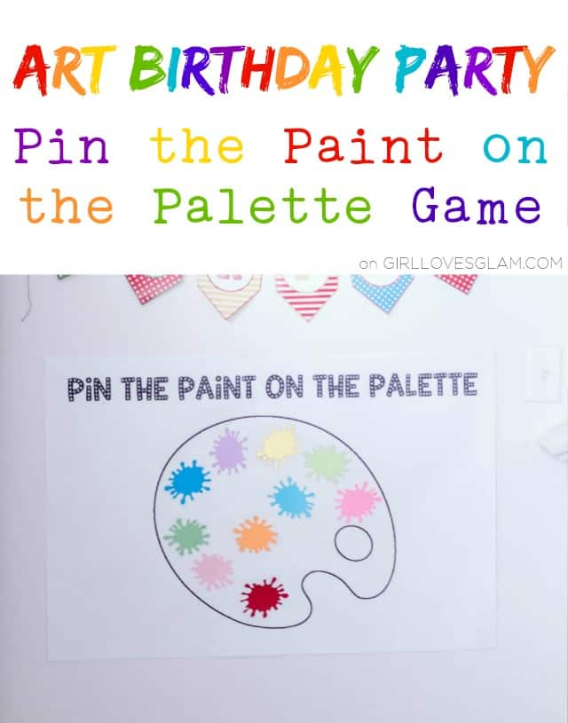 Pin the Paint on the Palette Game