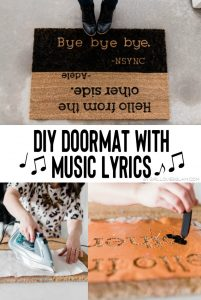 DIY Doormat with Music Lyrics