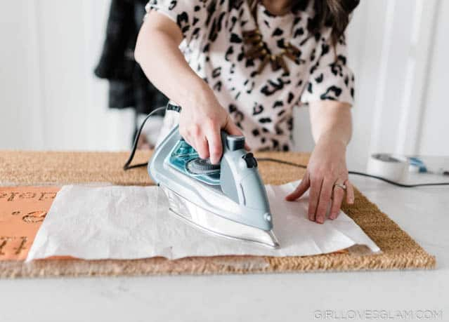 Personalizing a doormat