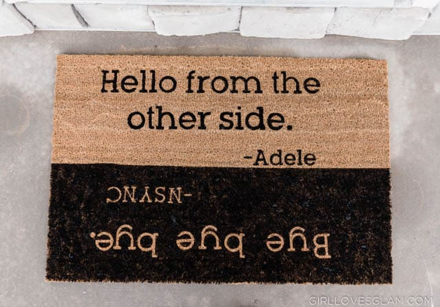Funny Personalized Door Mat
