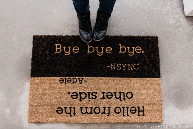 How to make a personalized doormat with music lyrics
