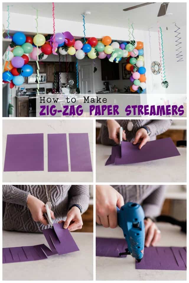 How to Make Zig Zag Paper Streamers