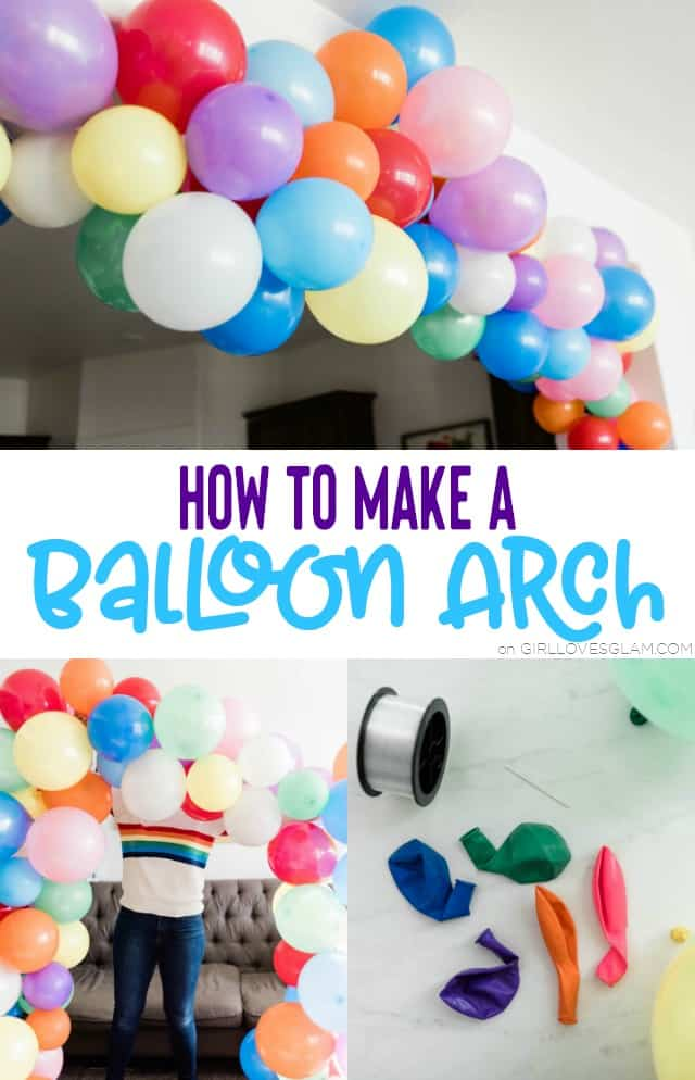How to Make a Balloon Arch on www.girllovesglam.com