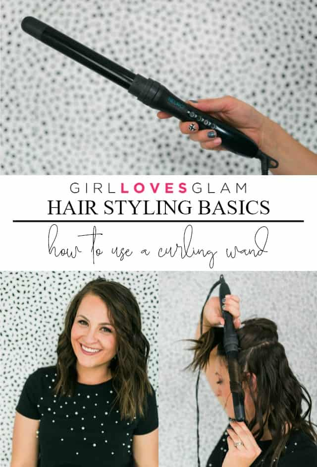 How to use a curling wand