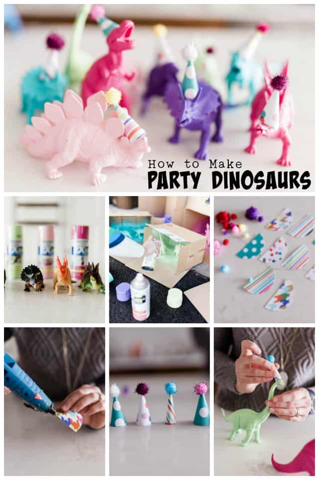 How to make party dinosaurs