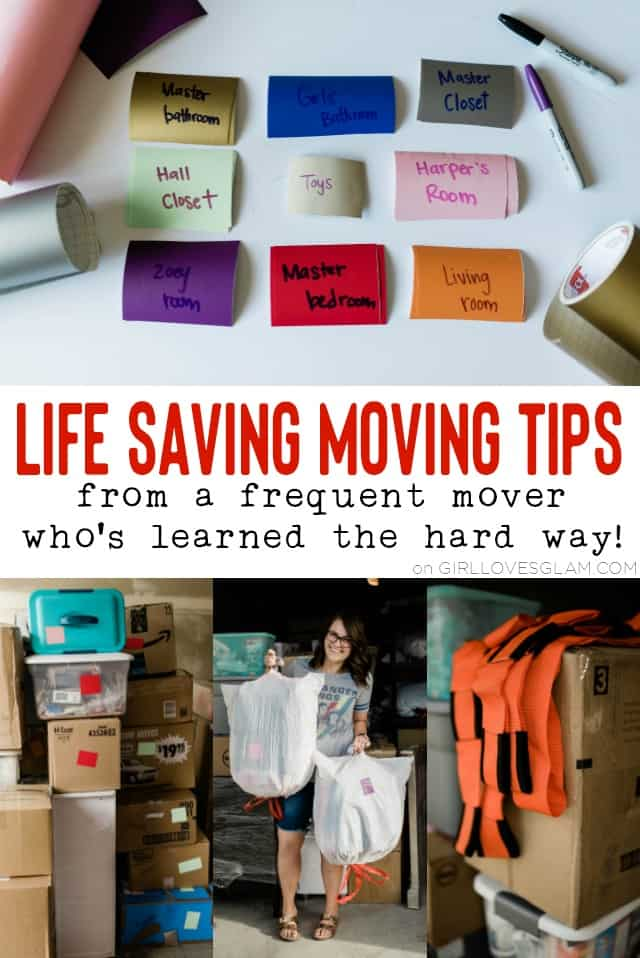 Life Saving Moving Tips on www.girllovesglam.com