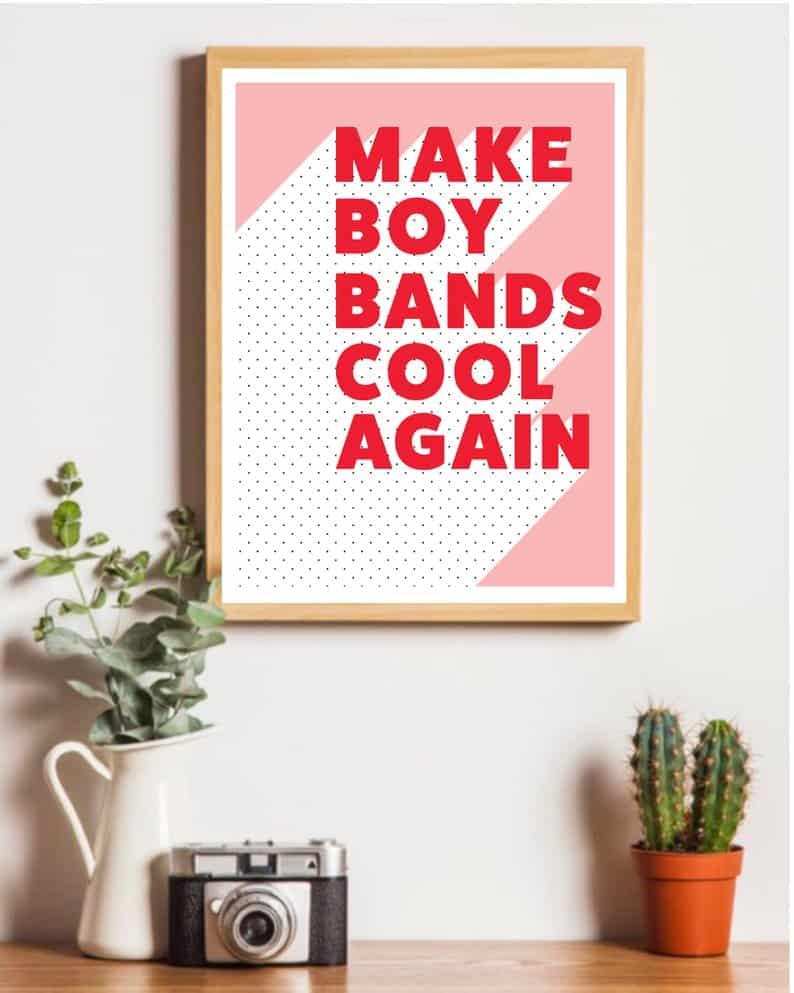 Boy Band Print