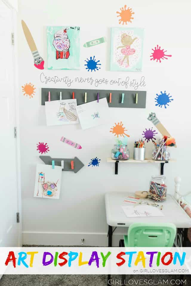How to Display Kids Art