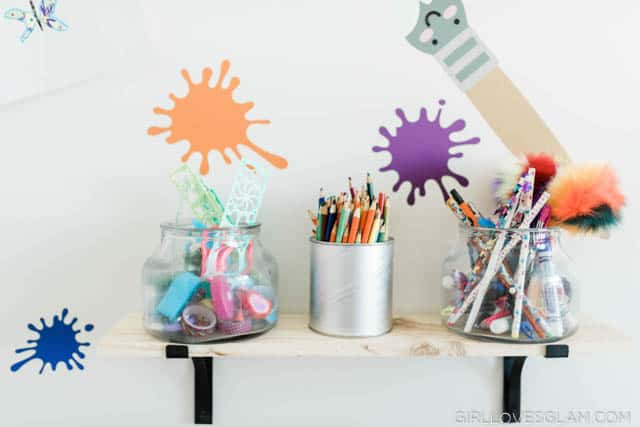 Kids Art Shelf