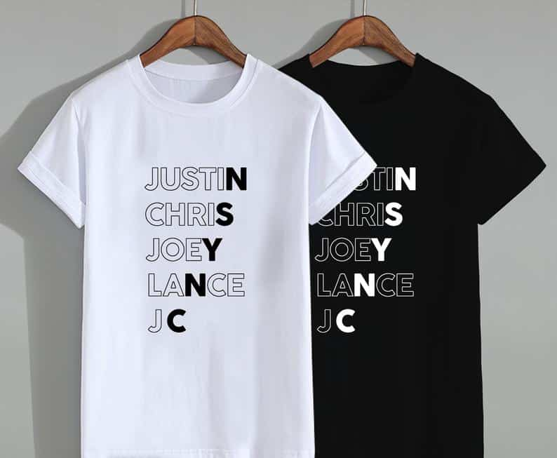 NSYNC Shirt Names