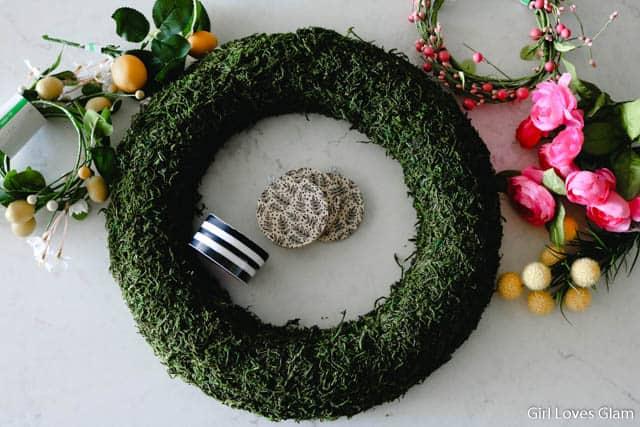 Lemon Wreath Supplies