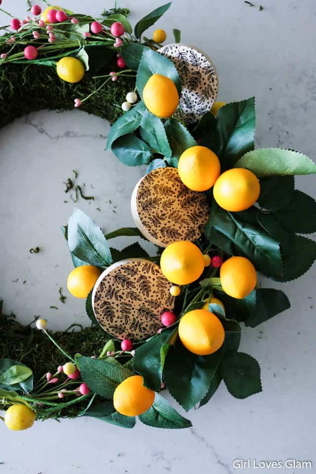 Lemon Wreath How To