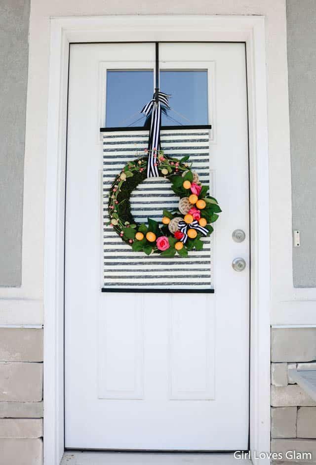 Lemon Wreath with Stripes