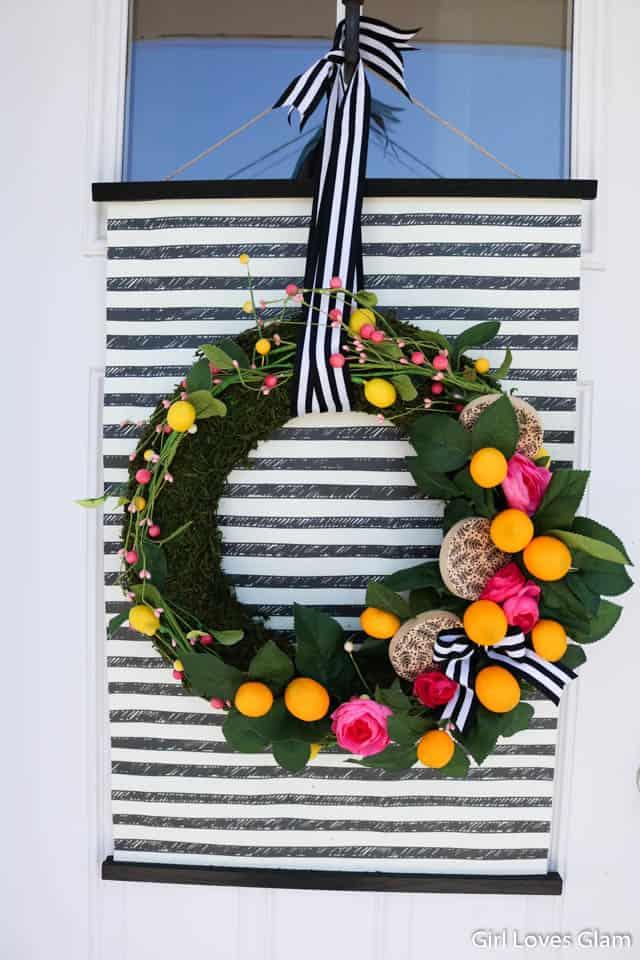 Striped Lemon Wreath