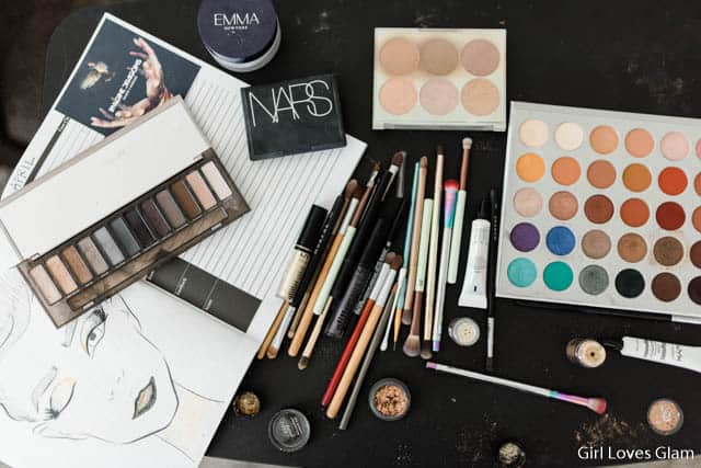 Album Cover Makeup supplies