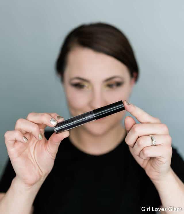 NYX Glitter Goals Alienated Black Glitter Lipstick