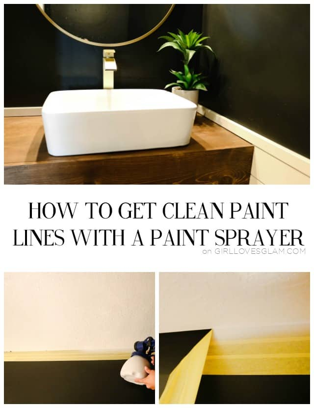 How to Get Clean Paint Lines with a Paint Sprayer on www.girllovesglam.com