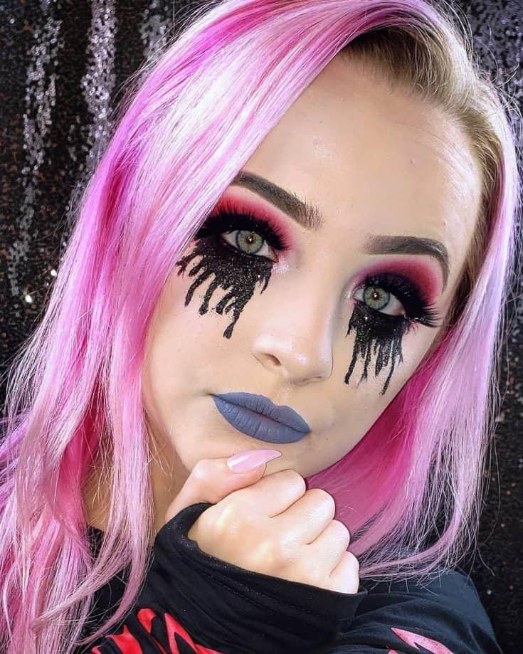 Black Tears Makeup