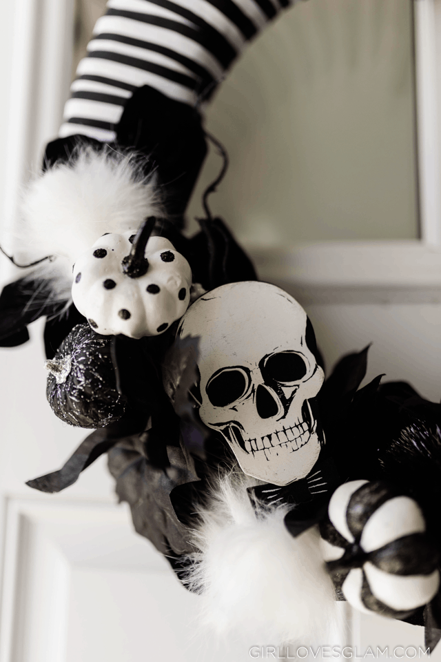 Black and White Halloween Wreath
