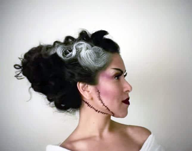 Bride of Frankenstein Hair Tutorial