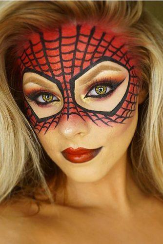 Women's Spiderman Makeup